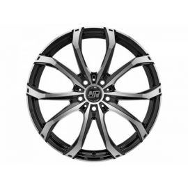 MSW 48 GLOSS BLACK FULL POLISHED Wheel 9,5x21 - 21 inch 5x114,3 bold circle - 8252