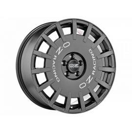 OZ RALLY RACING Dark Graphite with silver letters. Wheel 7,5 - 10368