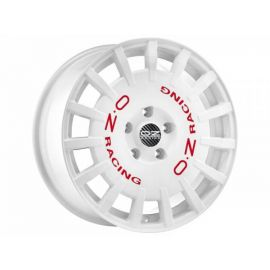 OZ RALLY RACING White with red letters Wheel 7x17 - 17 inch - 9955