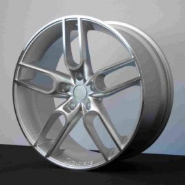 Caractere CW1 silver polished Wheel 11x22 - 3740