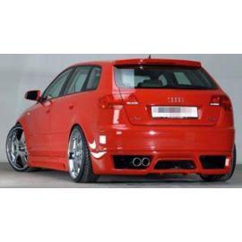 Rear apron rieger tuning Audi A3 8P Sportback