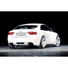 Rieger rear bumper extension Carbon-Look Audi A4 B8 ab 07