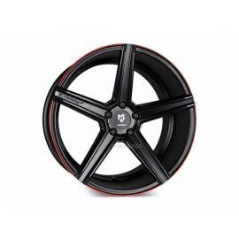 MB Design KV1S black mat red painted trim Wheel 9,5x21 - 21 inch 5x114,3 bolt circle - 6800
