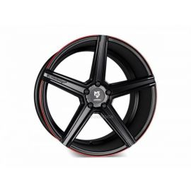 MB Design KV1S DC black mat red painted trim Wheel 9,5x21 - 21 inch 5x120 bolt circle - 6843