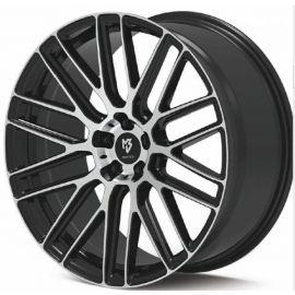MB Design KV4 mat black polished Wheel 9x20 - 20 inch 5x120 bolt circle - 6691
