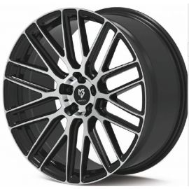 MB Design KV4 shiney black polished Wheel 10x22 - 22 inch 5x108 bolt circle - 6988
