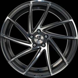 MB Design KV2 shiny grey polished Wheel 8.5x20 - 20 inch 5x130 bolt circle - 6724