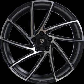 MB Design KV2 matt black polished Wheel 8.5x20 - 20 inch 5x115 bolt circle - 6666