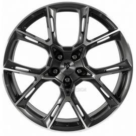 MB Design KX1 shiny grey polished Wheel 9x21 - 21 inch 5x115 bolt circle - 6822