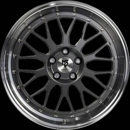 MB Design LV1 grey polished Wheel 7x17 - 17 inch 4x98 bolt circle - 6184