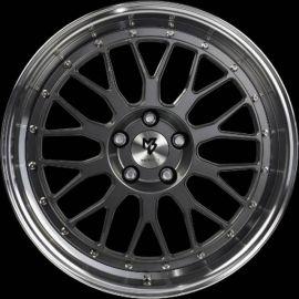 MB Design LV1 grey polished Wheel 7x17 - 17 inch 5x100 bolt circle - 6202