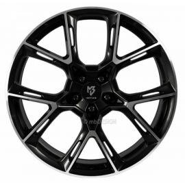 MB Design KX1 shiny black polished Wheel 9x21 - 21 inch 5x115 bolt circle - 6821