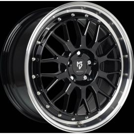 MB Design LV1 black shiney polished Wheel 7x17 - 17 inch 4x98 bolt circle - 6183