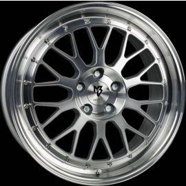MB Design LV1 silver polished Wheel 7x17 - 17 inch 4x108 bolt circle - 6167