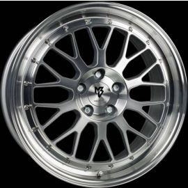 MB Design LV1 silver polished Wheel 7,5x18 - 18 inch 4x108 bolt circle - 6273