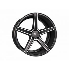 MB Design KV1 black mat polished Wheel 9.5x19 - 19 inch 5x120,65 bolt circle - 6529