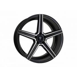 MB Design KV1 black mat polished Wheel 10x22 - 22 inch 5x127 bolt circle - 6928