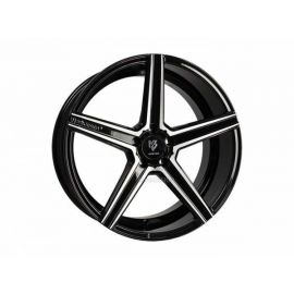 MB Design KV1 DC black shiny polished Wheel 10x22 - 22 inch 5x108 bolt circle - 6997