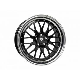 MB Design LV1 black shiney polished Wheel 7,5x18 - 18 inch 4x100 bolt circle - 6252