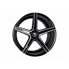 MB Design KV1 black shiny polished Wheel 9.5x19 - 19 inch 5x120 65 bolt circle