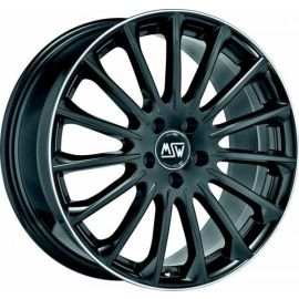 MSW 30 GLOSS BLACK DIAM.LIP Wheel 7,5x17 - 17 inch 5x112 bold circle - 7762
