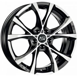 MSW CROSS OVER BLACK POLISHED Wheel 7x16 - 16 inch 5x100 bold circle - 7516