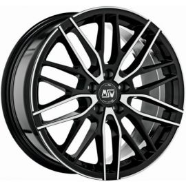 MSW 72 GLOSS BLACK F. POL. Wheel 8x18 - 18 inch 5x110 bold circle - 7904