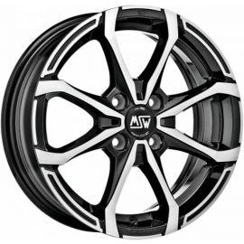 MSW X4 GLOSS BLACK FULL POLISHED Wheel 5,5x14 - 14 inch 4x108 bold circle - 7341