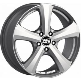 MSW 19 FULL SILVER Wheel 8x17 - 17 inch 5x114 3 bold circle