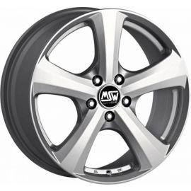 MSW 19 FULL SILVER Wheel 7x17 - 17 inch 5x100 bold circle - 7692