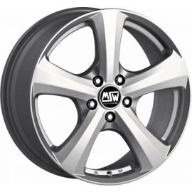 MSW 19 FULL SILVER Wheel 8x18 - 18 inch 5x130 bold circle - 8002
