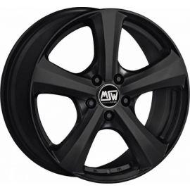 MSW 19 MATT BLACK Wheel 6x14 - 14 inch 5x100 bold circle