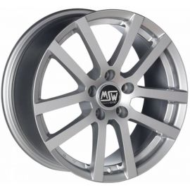 MSW 22 FULL SILVER Wheel 8x17 - 17 inch 5x114 3 bold circle