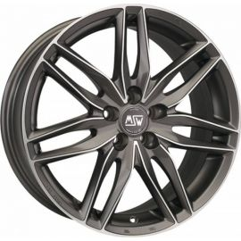 MSW 24 GUN METAL POLISHED Wheel 7,5x16 - 16 inch 5x100 bold circle - 7509