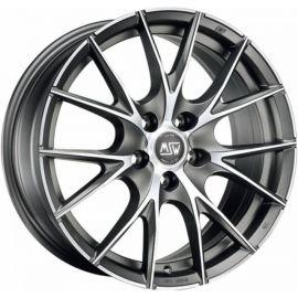 MSW 25 MATT TITANIUM POLISHED Wheel 6x15 - 15 inch 4x100 bold circle - 7374