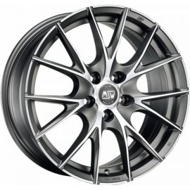 MSW 25 MATT TITANIUM POLISHED Wheel 7x16 - 16 inch 5x100 bold circle - 7507