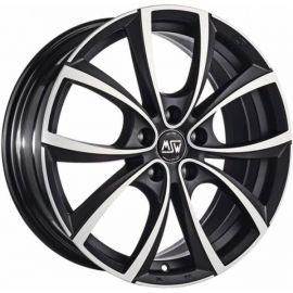 MSW 27 MATT DARK TITANIUM POLISHED Wheel 7,5x17 - 17 inch 5x100 bold circle - 7685