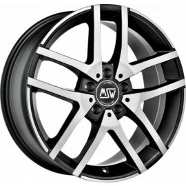 MSW 28 SCHWARZ MATT POLISHED Wheel 6,5x16 - 16 inch 5x114,3 bold circle - 7604