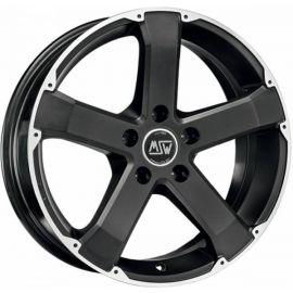 MSW 45 MATT BLACK POLISHED Wheel 8x17 - 17 inch 5x115 bold circle - 7797