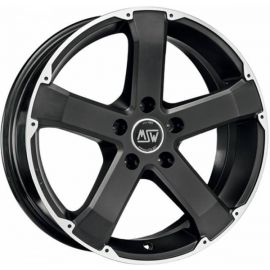 MSW 45 MATT BLACK POLISHED Wheel 8x18 - 18 inch 5x130 bold circle - 7999