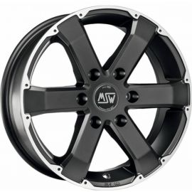 MSW 46 MATT BLACK POLISHED Wheel 7,5x17 - 17 inch 6x139,7 bold circle - 7852