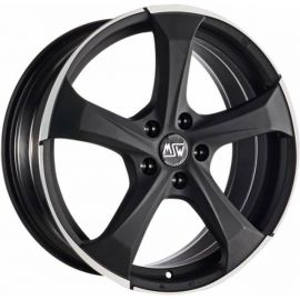 MSW 47 MATT DARK TITANIUM POLISHED Wheel 9x19 - 19 inch 5x130 bold circle - 8115