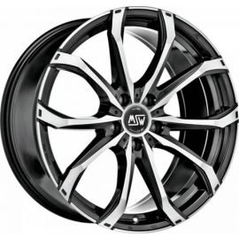 MSW 48 GLOSS BLACK FULL POLISHED Wheel 8x19 - 19 inch 5x108 bold circle - 8029