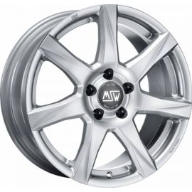MSW 77 FULL SILVER Wheel 6x15 - 15 inch 4x100 bold circle - 7372
