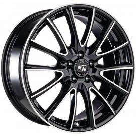MSW 86 BLACK POLISHED Wheel 6x15 - 15 inch 4x100 bold circle - 7367