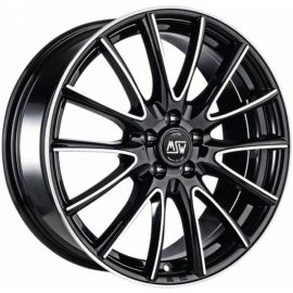 MSW 86 BLACK POLISHED Wheel 7,5x17 - 17 inch 5x108 bold circle - 7720