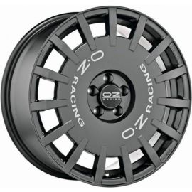 OZ RALLY RACING Dark Graphite with silver letters. Wheel 8x1 - 10212