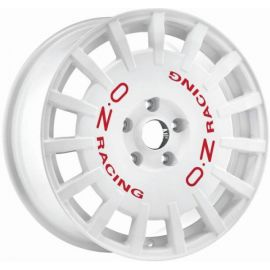OZ RALLY RACING White with red letters Wheel 8x18 - 18 inch - 10264