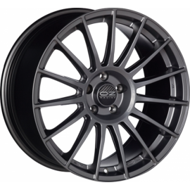 OZ SUPERTURISMO LM MATT GRAPHITE + SILVER LETTERING Wheel 8x