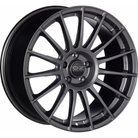 OZ SUPERTURISMO LM MATT BLACK+SILVER LETTERING Wheel 8x18 - - 10216